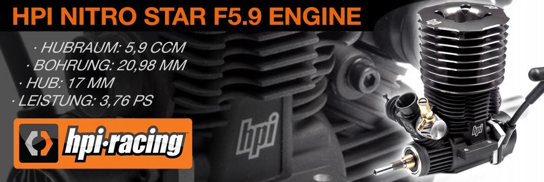 Nitro Star F5.9 Motor mit Seilzugstarter