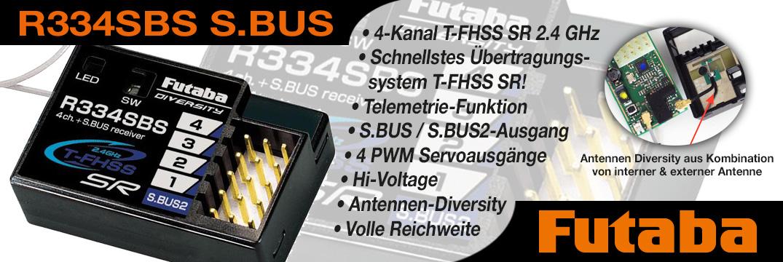 FUTABA R334SBS 2,4 GHz T-FHSS SR
