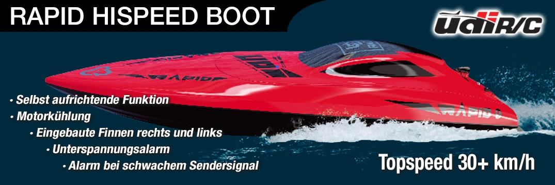 Udi Rapid 2,4GHz Hispeed Boot - Rot