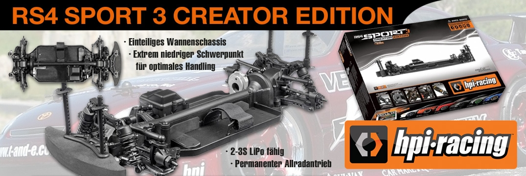 HPI RS4 Sport 3 Challenge Chassis (montiert)