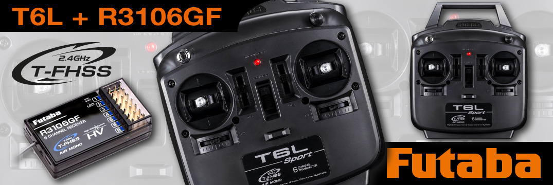 FUTABA T6L Sport 2.4GHz T-FHSS + R3106GF (DE)