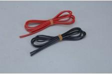2,0qmm Sil Kabel rot/schw 2x 1m