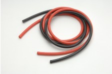 8,3qmm Sil Kabel rot/schw 2x 1m