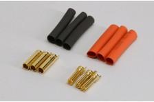Gold Stecker 4mm H.Duty (3 Paar)