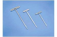 vernickelte T-Pins 1,1 x 38mm (100 Stk)
