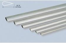 Alu stromlinien Rohr 12,7x889mm; 0,4mm Wandst.