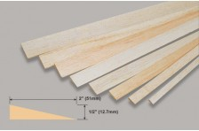 Balsa Endleiste (Profil) 12,7x51x914 mm