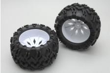 Räder und Reifen weiß (Paar)- Blaze