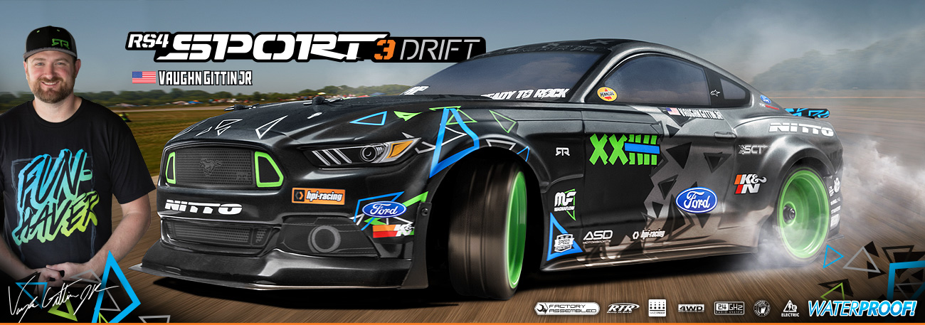 HPI RS4 Sport 3 Drift VGJR FH Ford Mustang