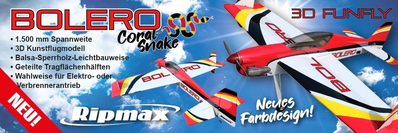 Bolero 3D (Coral Snake) ARTF EP/GP