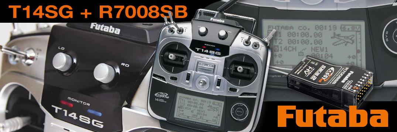 FUTABA T14SG 2.4GHz FASSTest  M2 + R7008SB