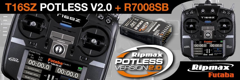 FUTABA T16SZ Potless Ultimate 2.4GHz + R7008SB M1