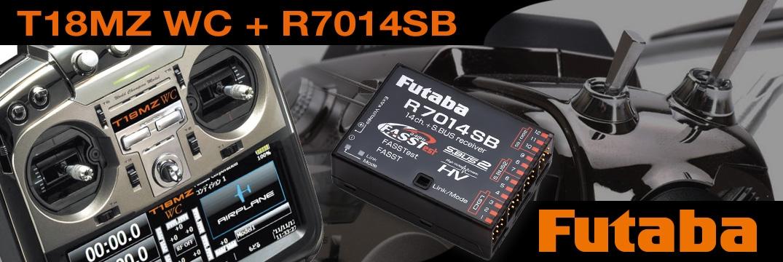 FUTABA T18MZ WC 2.4GHz + R7014SB M2