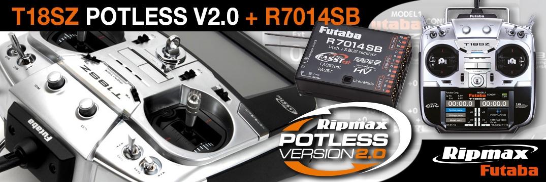 FUTABA T18SZ Potless V2.0 2.4GHz + R7014SB M2