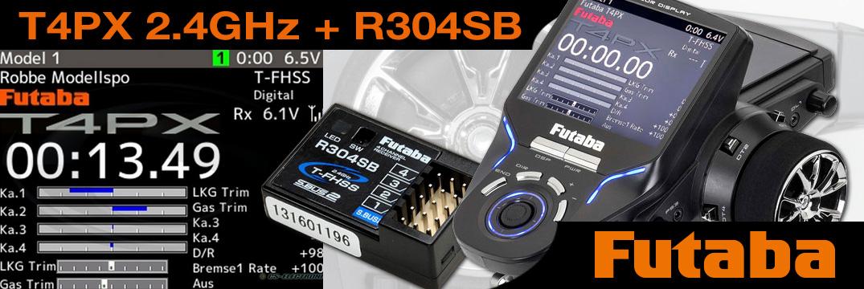 FUTABA T4PX 2.4GHz + R304SB