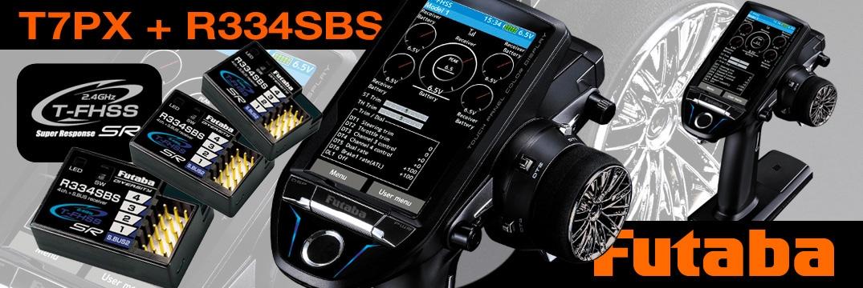 FUTABA T7PX 2.4GHz + 3x R334SBS