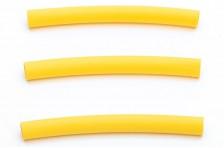 Schrumpfschlauch 6,4 x 76mm, gelb (3 Stk)