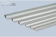 Alu stromlinien Rohr 9,52x889mm 0,4mm Wandst.