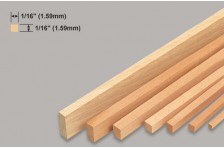Balsa Leiste 1,59x1,59x914mm