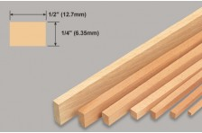 Balsa Leiste 6,35x12,7x914mm