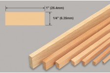 Balsa Leiste 6,35x25,4x914mm