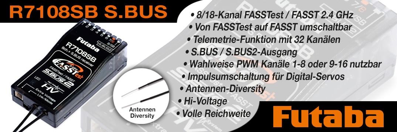 FUTABA R7108SB 2,4 GHz FASSTest / FASST Empfänger